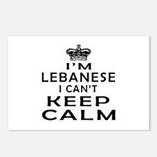 I Am Lebanese I Can Not Keep Calm Postcards (Packa