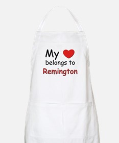 My heart belongs to remington BBQ Apron