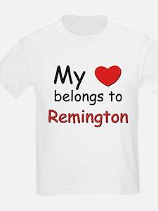 My heart belongs to remington Kids T-Shirt