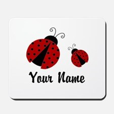 Ladybugs Red Personalized Mousepad