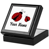 Lady bug Square Keepsake Boxes