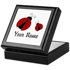 Ladybugs Red Personalized Keepsake Box