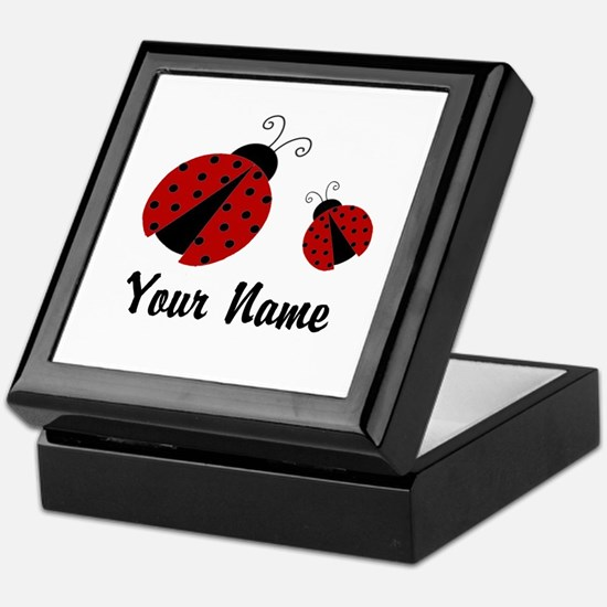 Ladybugs Red Personalized Keepsake Box