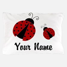 Ladybugs Red Personalized Pillow Case