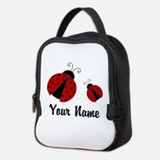 Ladybugs Red Personalized Neoprene Lunch Bag