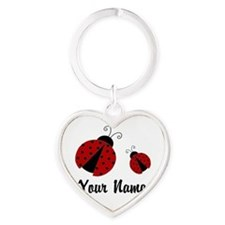 Ladybugs Red Personalized Keychains