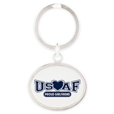 Air Force Girlfriend Oval Keychain