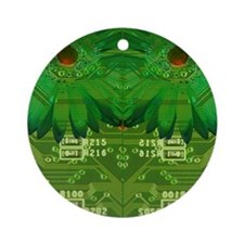 The Art of the Circuit Board Round Ornament