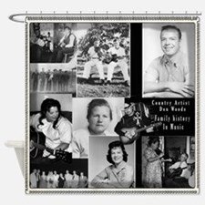 Don Woods History In Music Shower Curtain