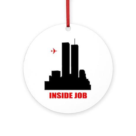 9/11 Inside Job Ornament (Round)