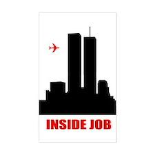 9/11 Inside Job Rectangle Decal