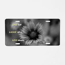 Unique Laugh Aluminum License Plate