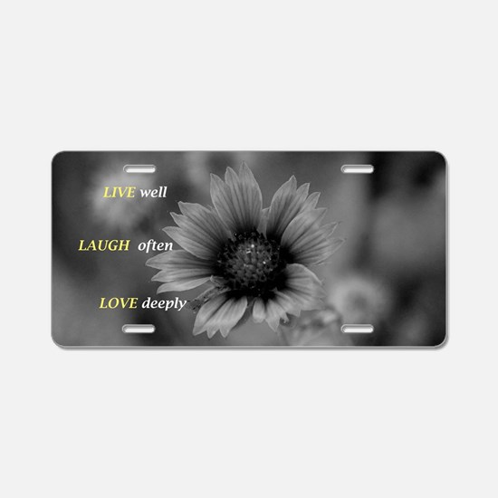 Funny Love to laugh Aluminum License Plate