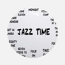 Real Jazz Clock White.gif Round Ornament
