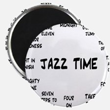Real Jazz Clock White.gif Magnet