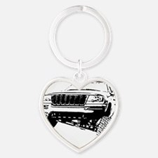 Jeep Grand Cherokee Poser (WJ) Heart Keychain