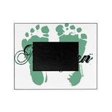 newborn green feet twilight copy Picture Frame