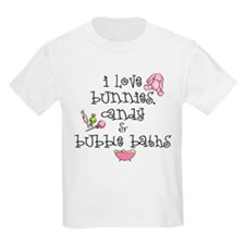 I Love Bunnies Kids T-Shirt