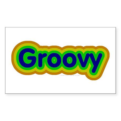 Groovy Rectangle Sticker