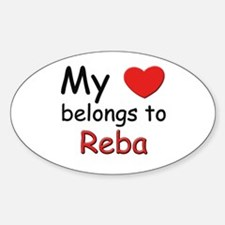 My heart belongs to reba Oval Decal