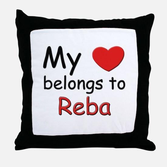 My heart belongs to reba Throw Pillow