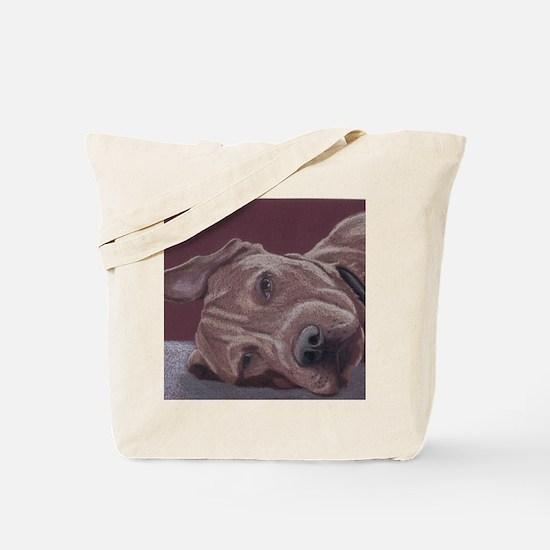 DogTired-square Tote Bag
