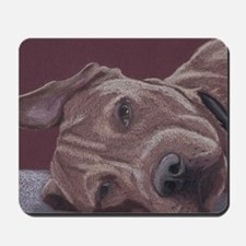 DogTired-square Mousepad