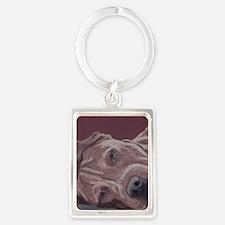 DogTired-square Portrait Keychain