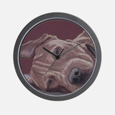 DogTired-square Wall Clock