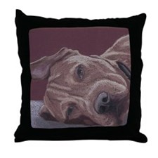 DogTired-square Throw Pillow