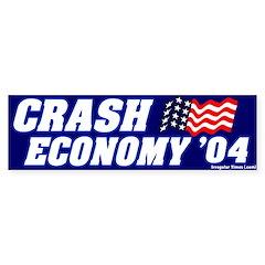 Mock Crash Economy Bumper Bumper Sticker