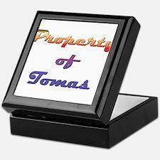 Property Of Tomas Male Keepsake Box