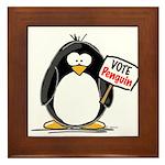 Vote Penguin Framed Tile