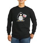 Vote Penguin Long Sleeve Dark T-Shirt