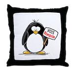 Vote Penguin Throw Pillow