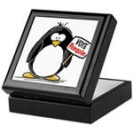 Vote Penguin Keepsake Box