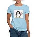 Vote Penguin Women's Pink T-Shirt