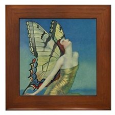 Art Deco Glamour Butterfly Framed Tile
