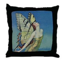 Art Deco Glamour Butterfly Throw Pillow