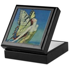 Art Deco Glamour Butterfly Keepsake Box