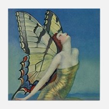 Art Deco Glamour Butterfly Tile Coaster