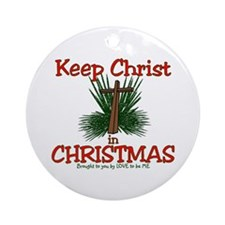 KEEP CHRIST IN CHRISTMAS Ornament (Round)