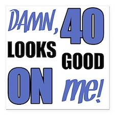 "Funny 40th Birthday (Dam Square Car Magnet 3"" x 3"""