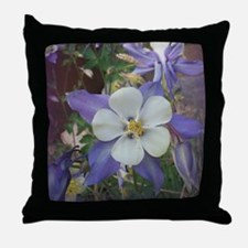 Columbines gc Throw Pillow