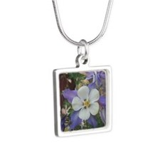 Columbines gc Silver Square Necklace
