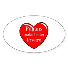 Pagan Lovers Oval Decal