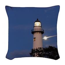 lighthousemoon Woven Throw Pillow