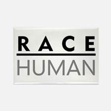 Race Human Rectangle Magnet (100 pack)