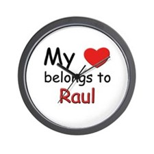 My heart belongs to raul Wall Clock