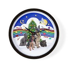 R-Xmas Music 1 - 2G-Sheps-2cats Wall Clock